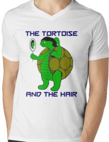 The Tortoise and the Hair Mens V-Neck T-Shirt