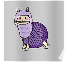 Yarn Alpaca - Purple Poster