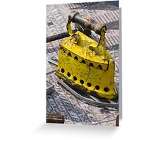 old iron for cloths Greeting Card