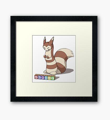 Pokemon Furret Framed Print