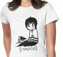 Carnikids: Corby Black and White Womens Fitted T-Shirt
