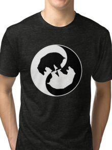 Bear Yin Yang 2 Tri-blend T-Shirt