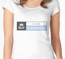 Clubeskimo Blue Print Women's Fitted Scoop T-Shirt
