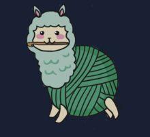 Yarn Alpaca - Green Kids Tee