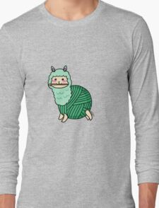 Yarn Alpaca - Green Long Sleeve T-Shirt