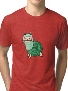 Yarn Alpaca - Green Tri-blend T-Shirt