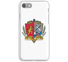 """kitties and pysanky furever"" traditional colour crest iPhone Case/Skin"