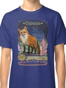 Fox and Foxgloves Constellation Vulpecula Art Nouveau Style Classic T-Shirt