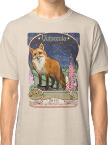 Fox and Foxgloves Constellation Vulpecula Art Nouveau Style Classic T-Shirt