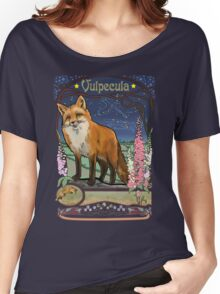 Fox and Foxgloves Constellation Vulpecula Art Nouveau Style Women's Relaxed Fit T-Shirt