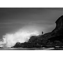 Against The Oceans Might Photographic Print