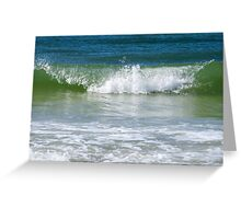 Waves of the gulf Greeting Card