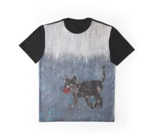 Cat With Ball Graphic T-Shirt