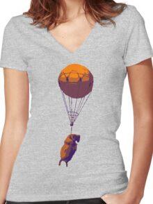 Flying Goat Women's Fitted V-Neck T-Shirt