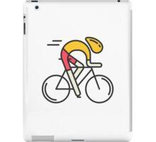 Linear Illustration of Cyclist iPad Case/Skin