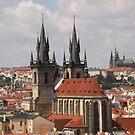 Prague Tyn Church by Elena Skvortsova
