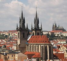 Prague Tyn Church by Elena Skvortsova