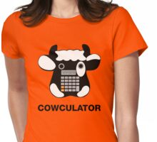 Cowculator. Math Joke. Geek Pun Tee Shirt Womens Fitted T-Shirt