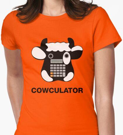 Cowculator. Math Joke. Geek Pun Tee Shirt Womens Fitted T-Shirt