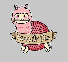 Yarn Alpaca - Yarn Or Die - Pink by Casey Sunshine