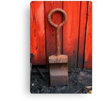 Red Shovel? Canvas Print