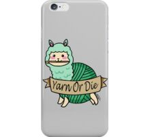 Yarn Alpaca - Yarn Or Die - Green iPhone Case/Skin