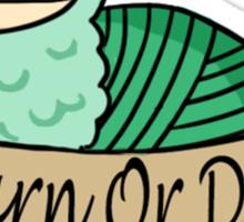Yarn Alpaca - Yarn Or Die - Green Sticker