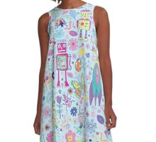 Electric Dreams A-Line Dress