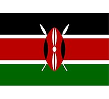 Kenya Flag Photographic Print