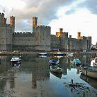 Caernarfon Castle - Wales by Arie Koene