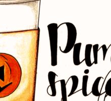Pumpkin spice latte - sticker Sticker