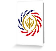 Sikh American Patriot Flag Series Greeting Card