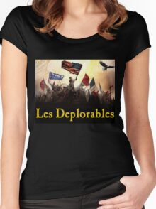 Les Deplorables Gifts For Donald Trump Supporters ! #donaldtrump #deplorables Women's Fitted Scoop T-Shirt