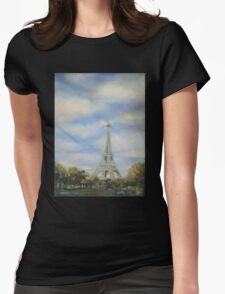 Eifel Tower, oil on canvas Womens Fitted T-Shirt