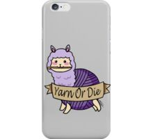 Yarn Alpaca - Yarn Or Die - Purple iPhone Case/Skin