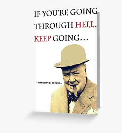 Churchill Quote Greeting Card