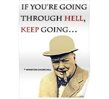Churchill Quote Poster