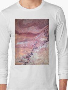San Juan River and Chinle Creek Utah Satellite Image Long Sleeve T-Shirt