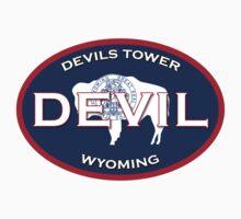 Devil's Tower Wyoming  Kids Tee