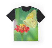 Butterfly on Red Graphic T-Shirt