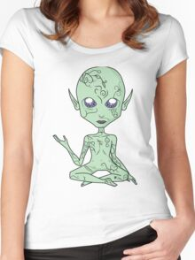 Beastly Spooky Space Baby Women's Fitted Scoop T-Shirt