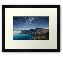 Lake Hawea startrails 1 Framed Print