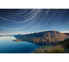 Lake Hawea startrails 1 Photographic Print