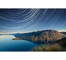 Lake Hawea startrails 1 Photographic Print