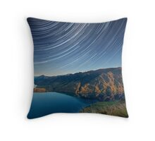 Lake Hawea startrails 1 Throw Pillow