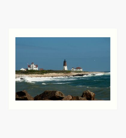 Old New England Lighthouse Art Print