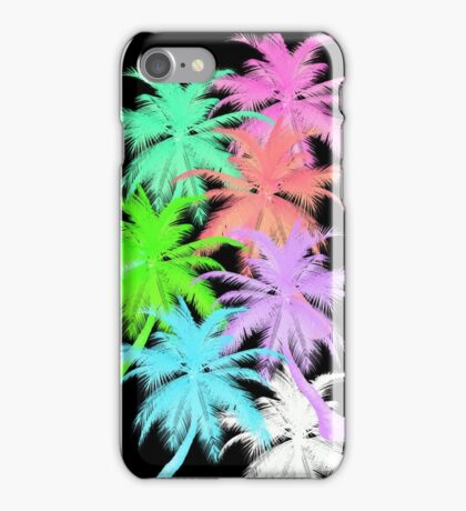 Even More Neon Palmtrees  iPhone Case/Skin