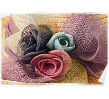 Raffia Roses on Hat  Poster
