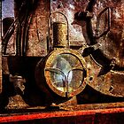 Vintage steam train floodlight by funnypixel