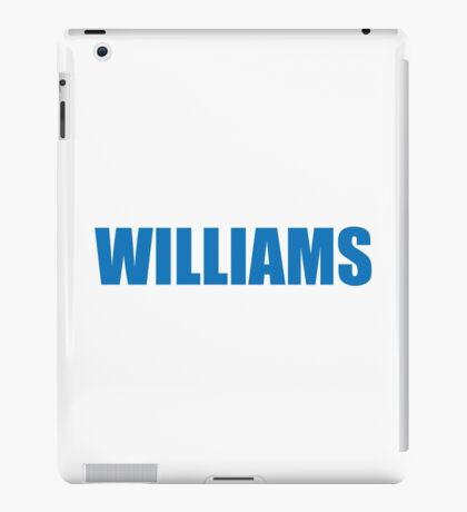Williams (Blue) iPad Case/Skin
